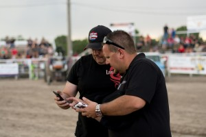 Skyler and Kenny partnering up at a Live A Little Productions Truck and Tractor Pulling Event